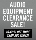Audio Equipment Clearance