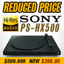 Sony - PS-HX500 USB Hi-Res Turntable