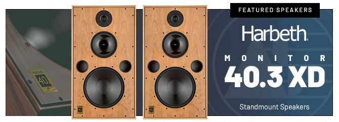 Harbeth Speakers - Monitor 40.3 XD  (Exotic Ash Finish - Pair)