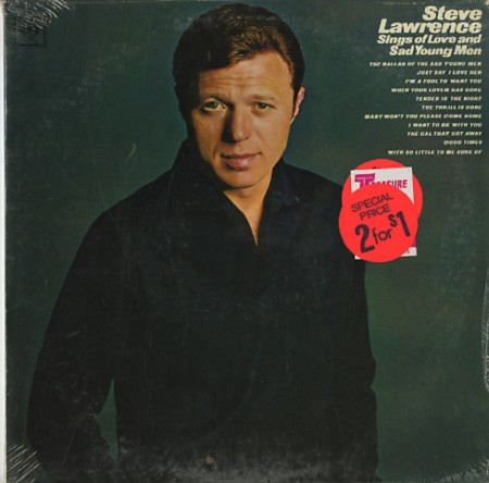 Steve lawrence sings of love and sad young men