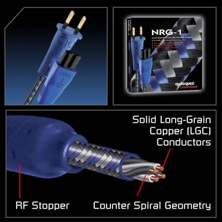 AudioQuest - NRG-1 (C7-2 POLE) AC Power Cable (3 feet)