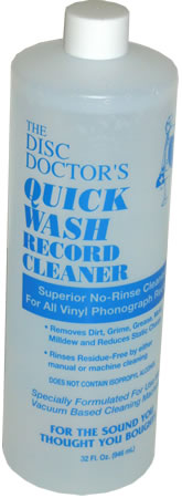 Disc Doctor - Quick Wash No-Rinse Vinyl Cleaning Solution - Quart