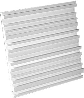 Auralex  - Metro Diffuser 2'x2'x2' diffuser panel (White) - Box of 12