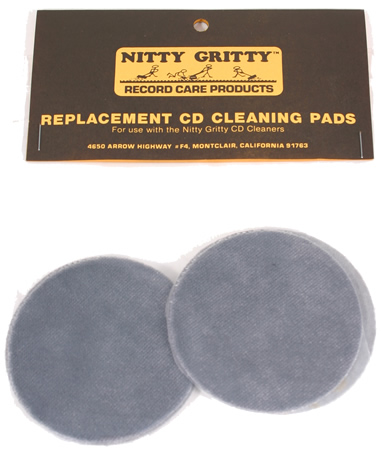 Nitty Gritty - Replacement CD Cleaning Pads (4 Small)