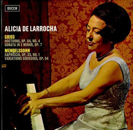 Alicia de Larrocha - Grieg: Nocturne, Op. 54, No. 4; Sonata In Em, Op. 7 ETC.