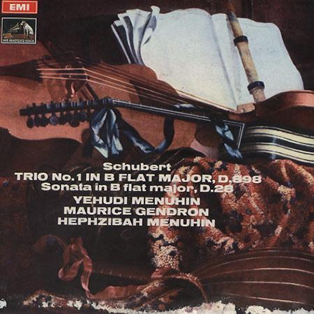 Menuhin, Gendron, Menuhin - Schubert: Trio in B flat major etc.