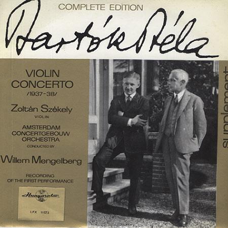 Szekely, Amsterdam Concertgebouw Orchestra - Bartok: Violin Concerto