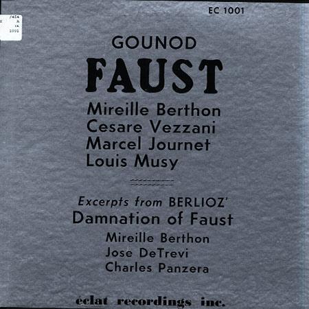 Mireille Berthon, Cesar Vezzani etc. - Gounod: Faust