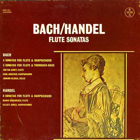 Zoltan Jeney, Paul Angerer, Johann Klicka - Bach, Handel: Flute Sonatas