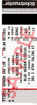 Blue Heaven Studios - Blues Masters 19 Concert Tickets 2016