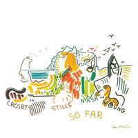 Crosby, Stills, Nash and Young - So Far -  Vinyl Record