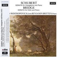 Cellist Mstislav Rostropovich and Benjamin Britten - Schubert & Bridge Sonatas