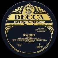 Roy Henderson - Delius: Sea Drift -  10 inch Vinyl Record