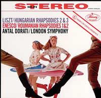 Antal Dorati - Liszt: Hungarian Rhapsodies 2 & 3/ Enesco: Roumanian Rhapsodies 1 & 2