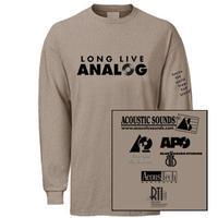- Long Live Analog Shirt/ Men's XXLarge Long Sleeve