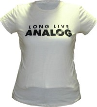- Long Live Analog Shirt/ Women's Large Short Sleeve/ Cream