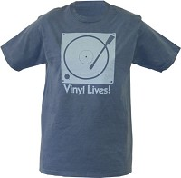 - Vinyl Lives T-Shirt Santa Fe Blue-Blue Print