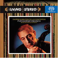 Charles Munch and the Boston Symphony - Dvorak: & Walton/ Cello Concertos