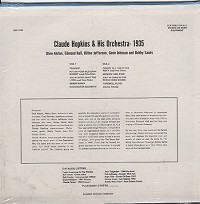 Claude Hopkins - Claude Hopkins & His Orch. 1935