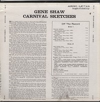Gene Shaw - Carnival Sketches