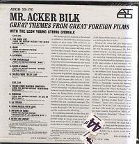 Mr. Acker Bilk - Great Themes From Great Foreign Films