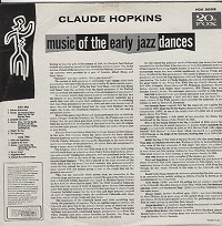 Claude Hopkins - Music Of The Early Jazz Dances