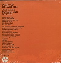 The Gary McFarland Sextet - Point Of Departure