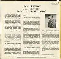 Jack Lemmon - Jack Lemmon Narrates E.B. White's Here Is New York