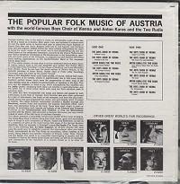 Boys Choir Of Vienna - The Popular Folk Music Of Austria