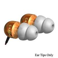 Cardas - Set of (2) White Silicone and (2) Black Comply Ear Tips