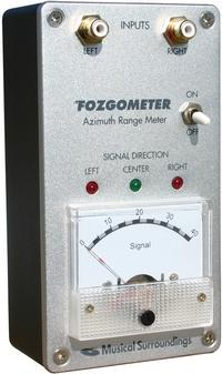 Musical Surroundings - The Fozgometer Azimuth Range Meter -  Turntable Set Up Tools