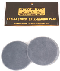 Nitty Gritty - Replacement CD Cleaning Pads (4 Small) -  CD Care