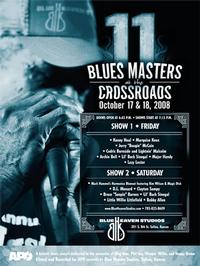 Blue Heaven Studios - Blues Masters at the Crossroads 11 (2008)  Poster - Autographed