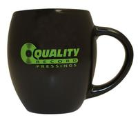Quality Record Pressings - Black Matte/Lime Green QRP Barrel Mug