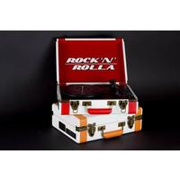 Rock 'N' Rolla - Premium Rechargeable Portable Briefcase Turntable with Bluetooth