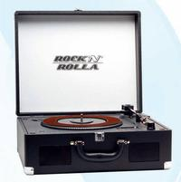 Rock 'N' Rolla - Premium Portable Briefcase Turntable and CD Player with Bluetooth