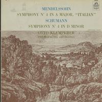 Klemperer, Philharmonia Orchestra - Mendelssohn: Symphony No. 4 etc.