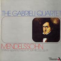 The Gabrieli Quartet - Mendelssohn: String Quartet No. 4 etc.