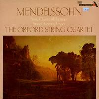 The Orford String Quartet - Mendelsson: String Quartet in EbMaj, String Quartet in Am