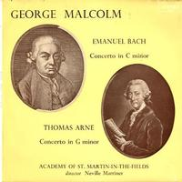 Malcolm, Marriner, Academy of St. Martin-in-the-Fields - Arne: Harpsichord Concerto etc. -  Preowned Vinyl Record