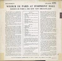 Wilbur de Paris - At Symphony Hall