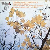 Dvorak, Schubert, Clifford Curzon with the Vienna Philharmonic Quartet - Piano Quintet In A / Quartettsatz In C Minor