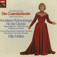 Rothenberger, Mattes, Symphonie-Orchester Graunke - Kalman: Das Csardasfurstin