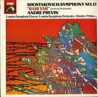 Andre Previn-Shostakovich: Symphony No. 13;