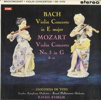Gioconda de Vito - Bach: Violin Concerto in E Major--Mozart Violin Concerto No.3 in G