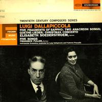 Elisabeth Soederstroem - Dallapiccola: Five Fragments of Sappho etc.