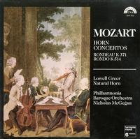 Greer, McGegan, Philharmonia Baroque Orchestra - Mozart: Horn Concertos