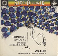 Ansermet, L'orch. De la Suisse Romande - Stravinsky:Symphony in C etc.