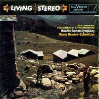 Henriot-Schweitzer, Munch, Boston Symphony Orchestra - Ravel Concerto in G d'lndy Symphony on a French Mountain Air