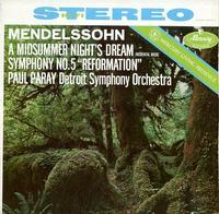 Paul Paray/Detroit Symphony Orchestra-Mendelssohn:A Midsummer Night's Dream